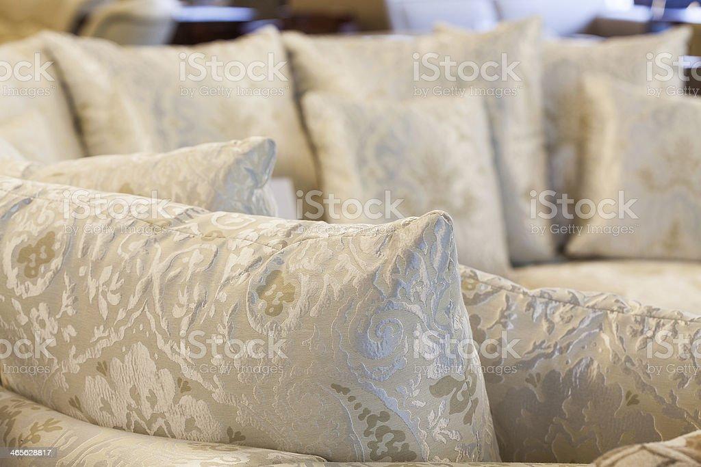 Floral-printed sofa royalty-free stock photo
