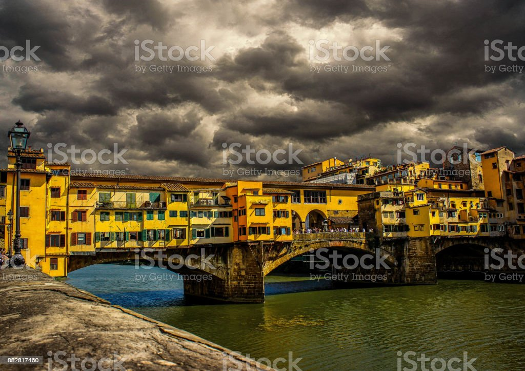 Florance on a Cloudy day stock photo