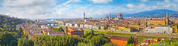 Florence  aerial view cityscape. Panorama view from Michelangelo park square  ,Italy Florence  aerial view cityscape. Panorama view from Michelangelo park square  ,Italy florence italy stock pictures, royalty-free photos & images