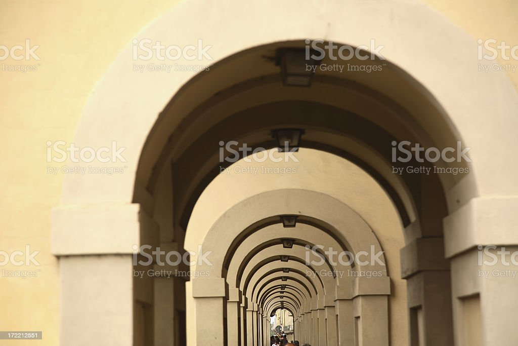 Florence: Arches royalty-free stock photo