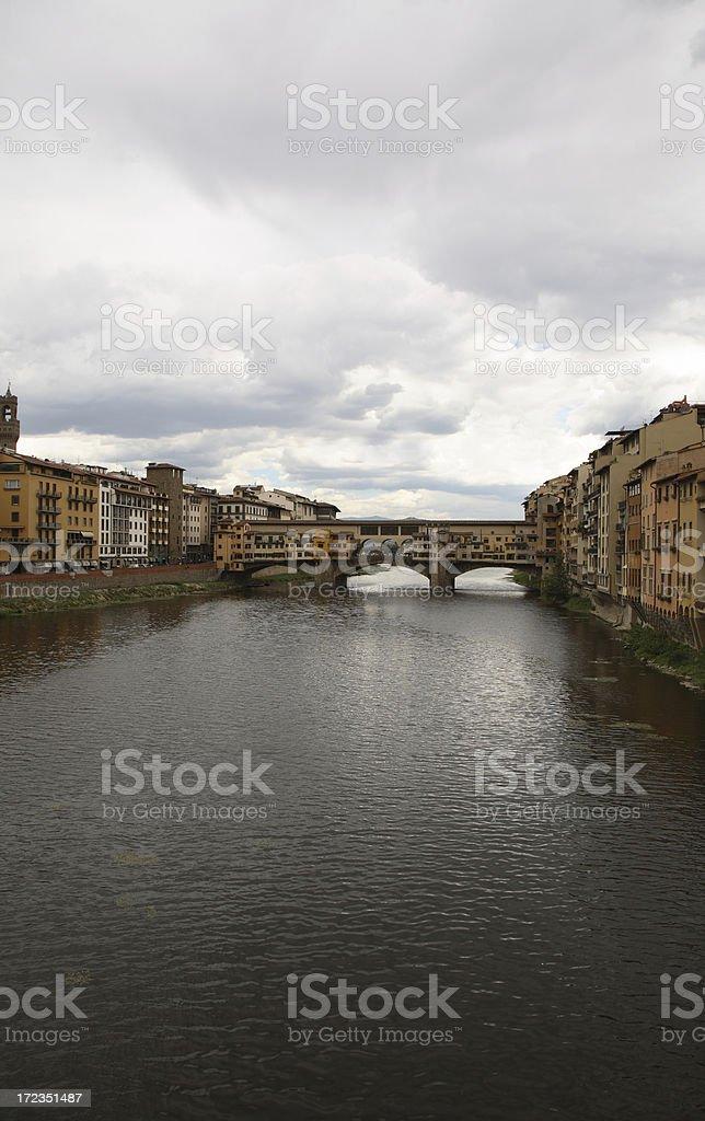 Florence: Arno River royalty-free stock photo