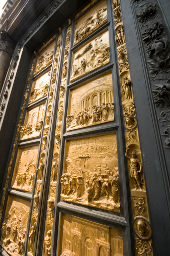 Florence Baptistery Golden Doors Stock Photo - Download ...