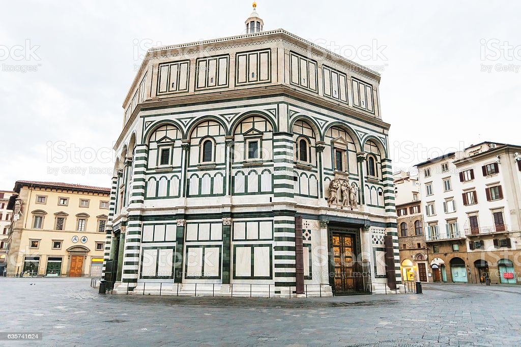 Florence Baptistery on Piazza San Giovanni stock photo