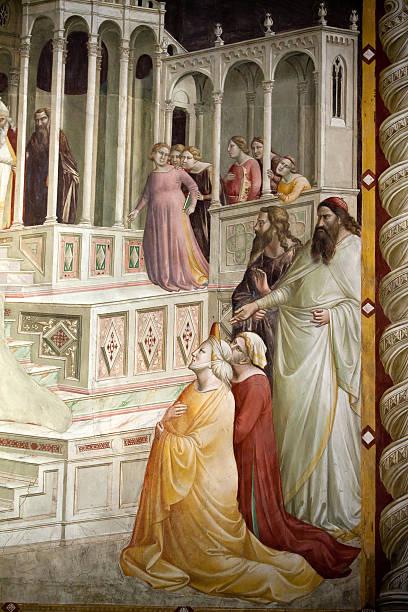 florence-basilika santa croce. - giotto stock-fotos und bilder