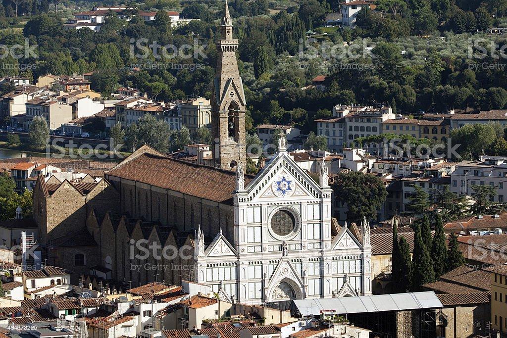 Florence - basilica of Santa Croce. stock photo