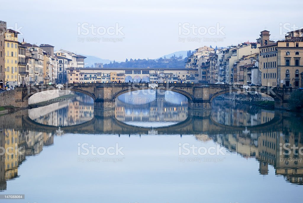 Florence bridge stock photo