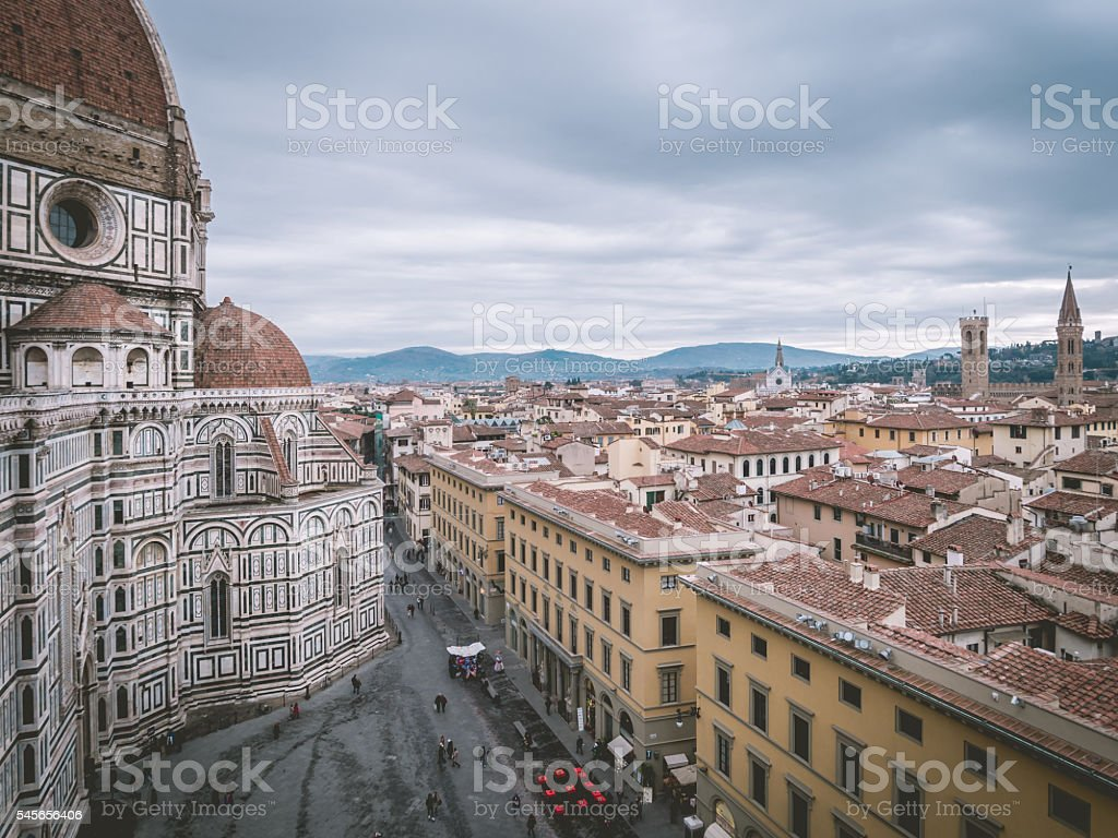 Florence cathedral and cityscape stock photo