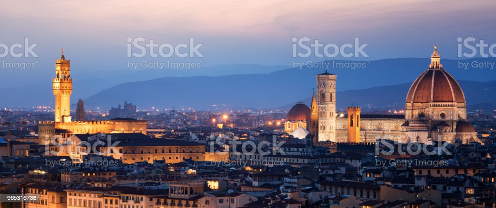 Florence Cathedral at Night in Florence - Italy zbiór zdjęć royalty-free