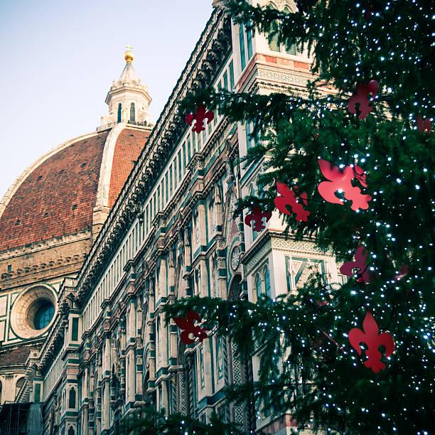 kathedrale von florenz für weihnachten - italienischer weihnachten stock-fotos und bilder
