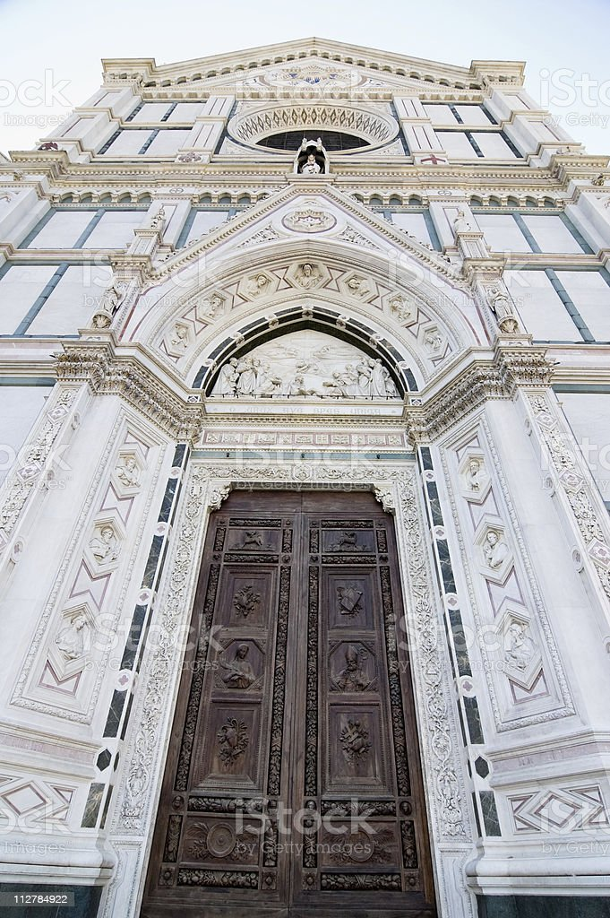 Florence Cathedral front Facade royalty-free stock photo