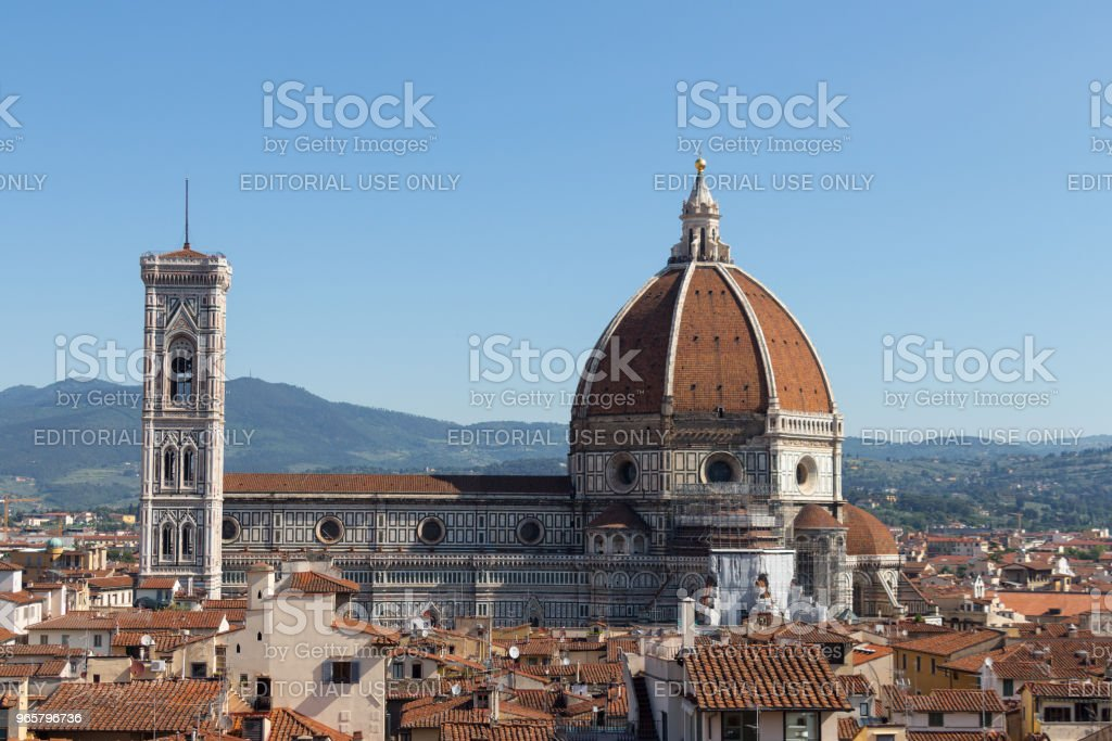 Florence Cathedral in a sunny day, Tuscany, Italy. - Royalty-free Architectural Dome Stock Photo