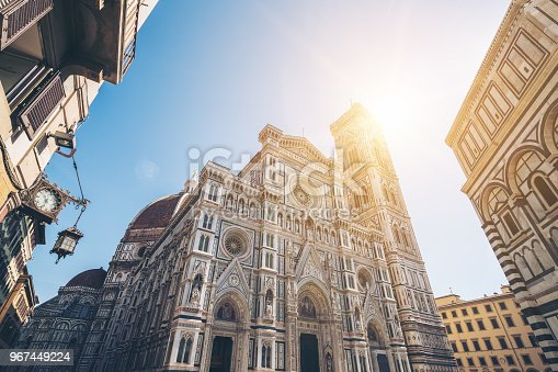 Florence Cathedral - The main church of Florence, Italy, is the UNESCO world heritage situated in the historic center of Florence and is major attraction to tourist visiting Italy.
