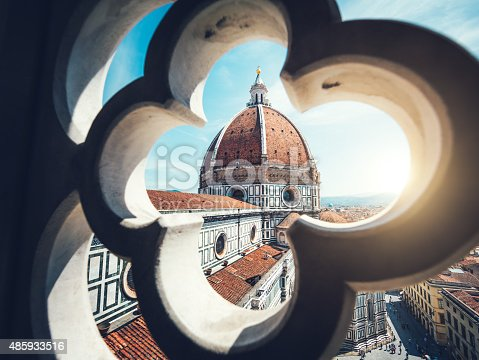 View on Duomo in Florence from Giotto's Bell Tower.