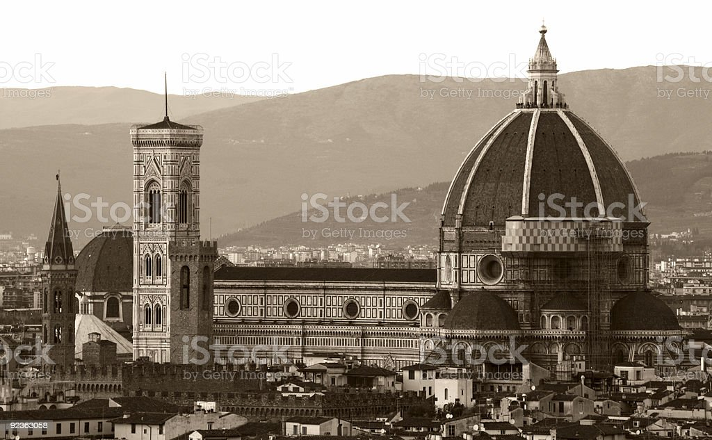 Florence cathedral vintage royalty-free stock photo