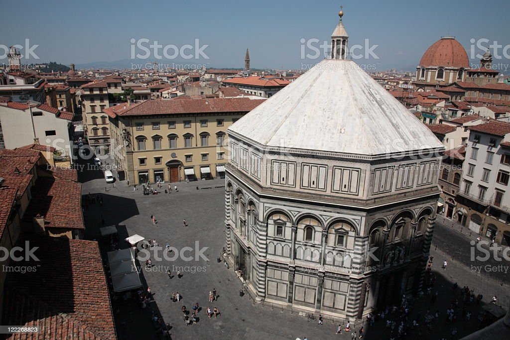 Florence city view stock photo
