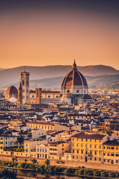 Florence cityscape and Duomo Santa Maria Del Fiore, Italy Capital city of the Italian region of Tuscany florence italy stock pictures, royalty-free photos & images