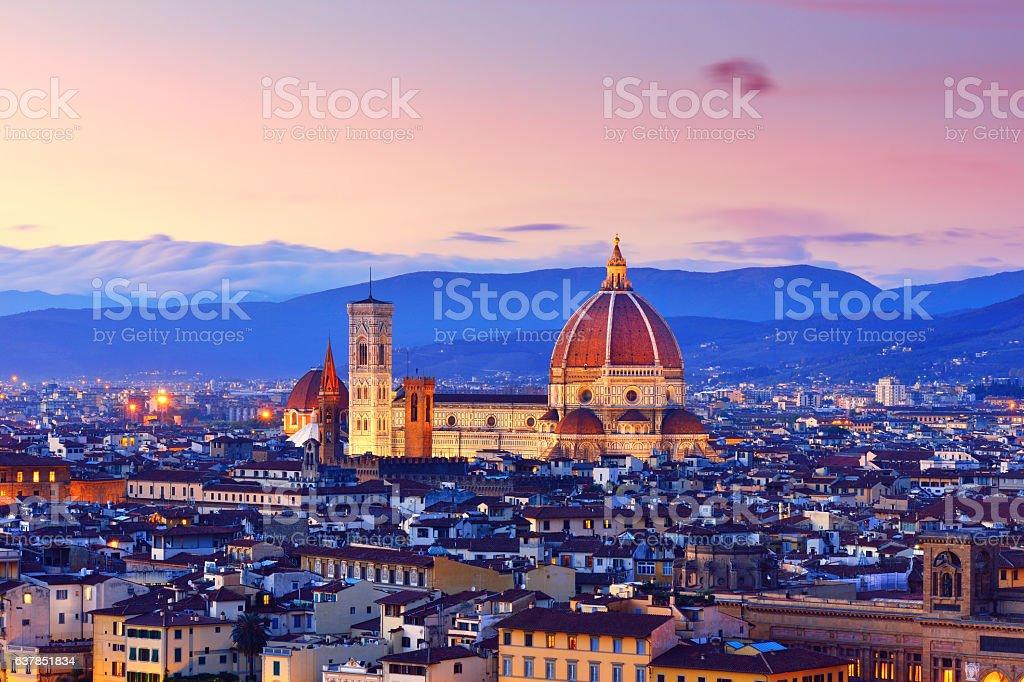 Florence Cityscape and Duomo Santa Maria Del Fiore