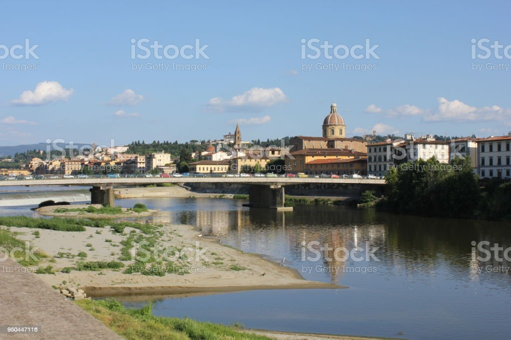 Florence cityscape at day time in summer season - foto stock