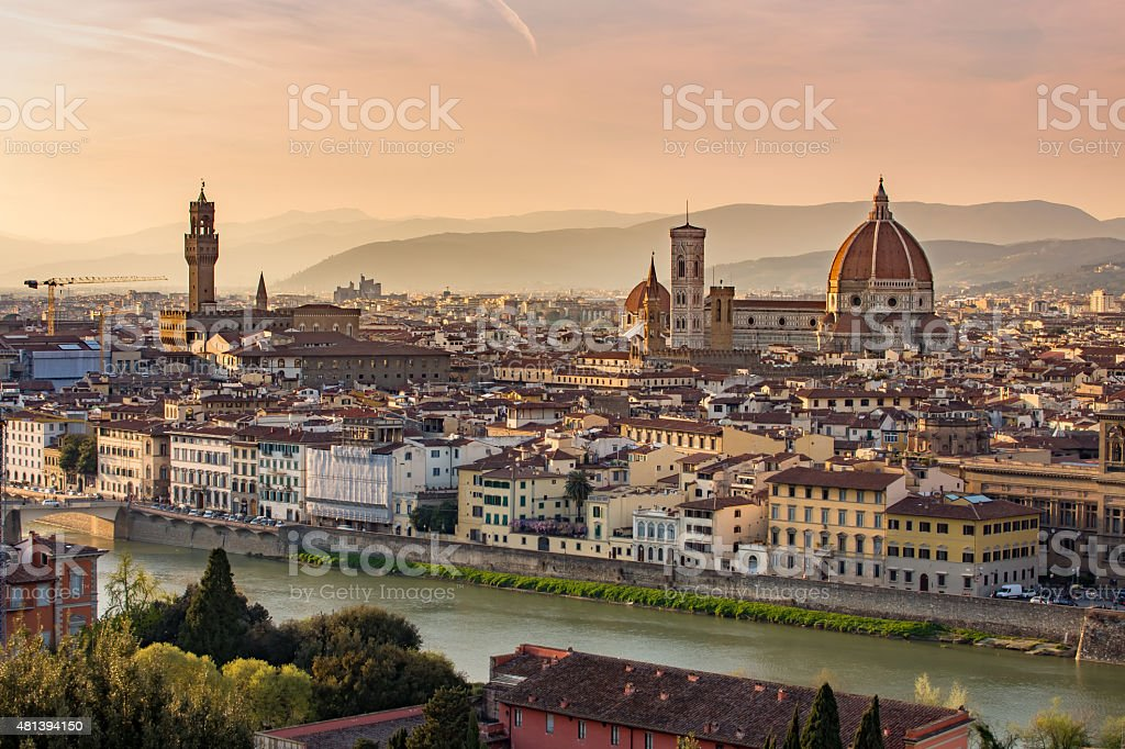 Florence cityscape in Tuscany, Italy stock photo