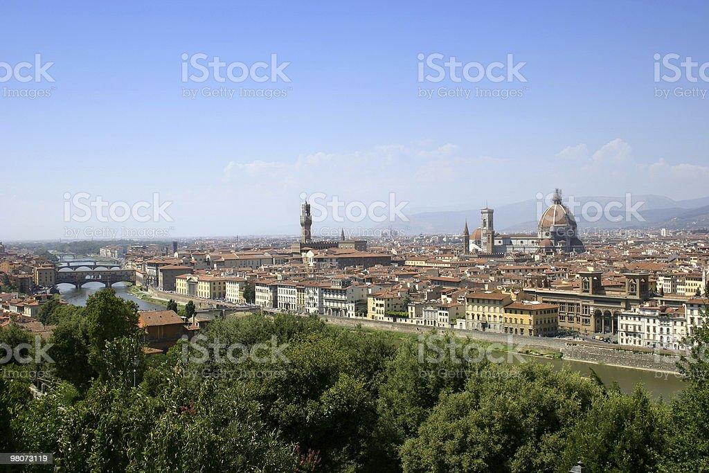 Paesaggio urbano di Firenze foto stock royalty-free