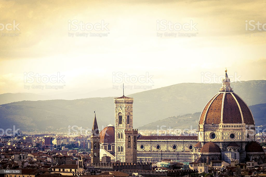 Florence Dome Ancient Mood stock photo