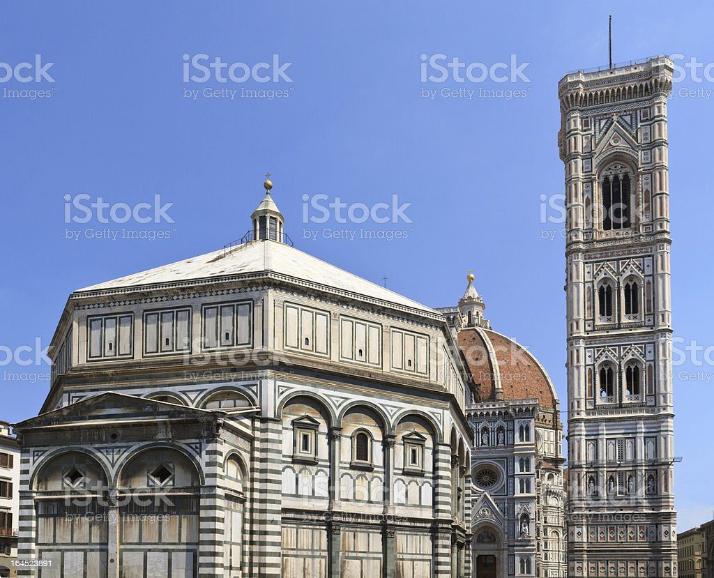 Florence Dome and Campanile, Italy royalty-free stock photo