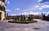 Florence during the covid-19 emergency, Carlo Goldoni square, Italy