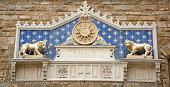 Florence emblem on Palazzo Wecchio