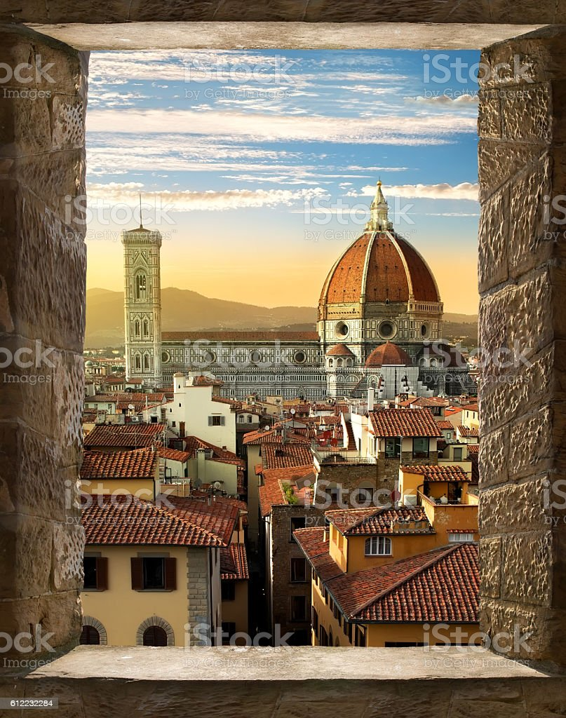 Florence from window stock photo