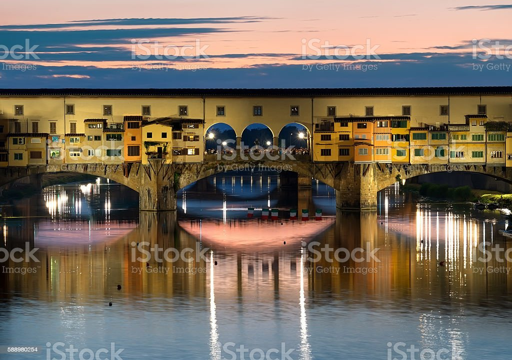 Florence in evening stock photo