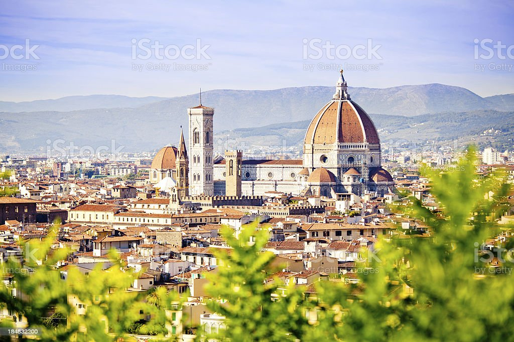 Florence in Spring, Skyline with Santa Maria del Fiore stock photo