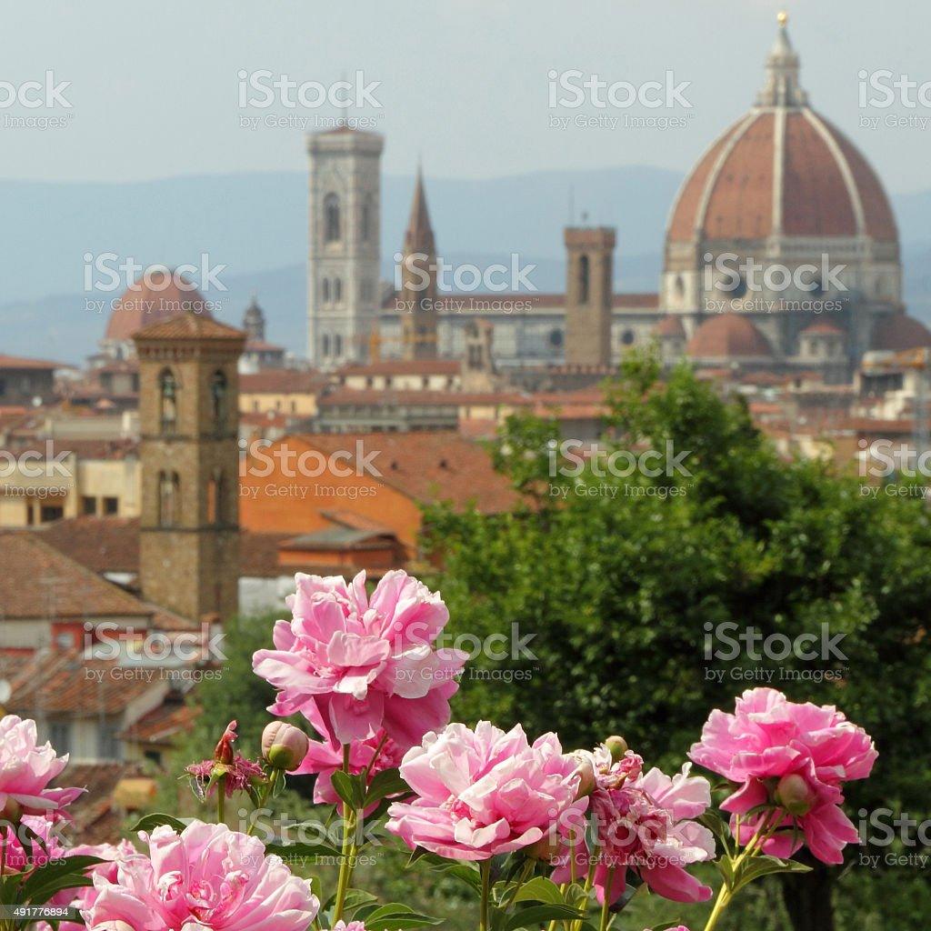 Florence in springtime stock photo
