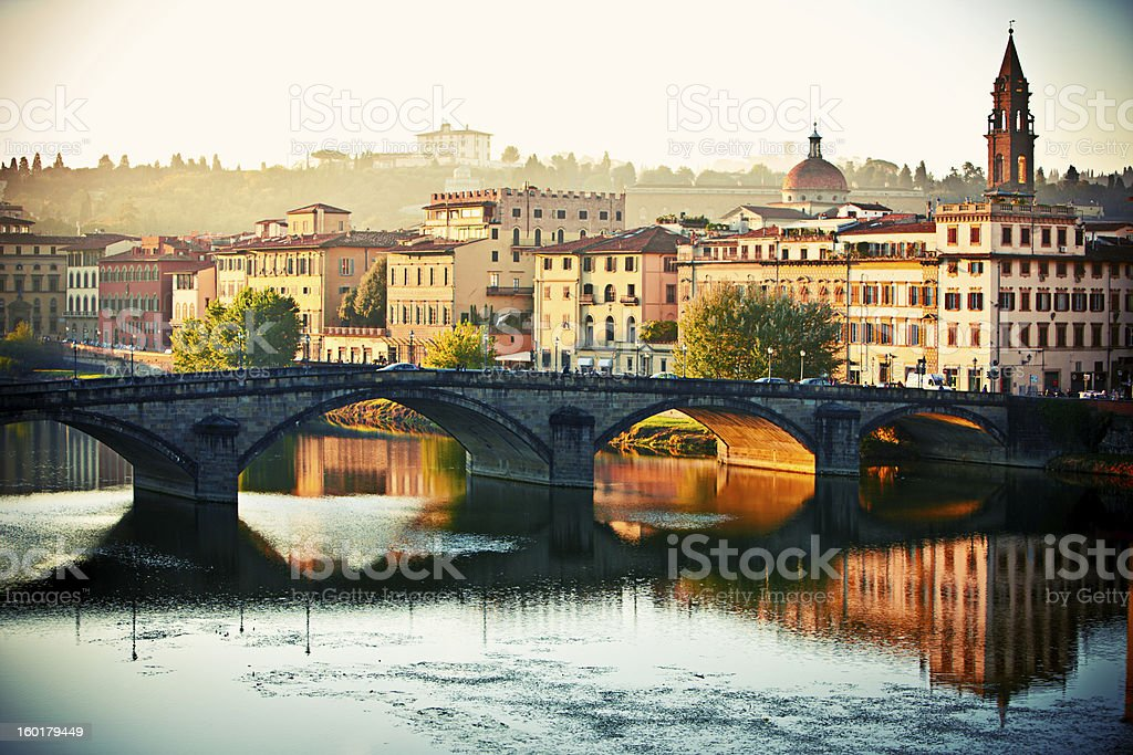 Florence in the Morning, Italy stock photo