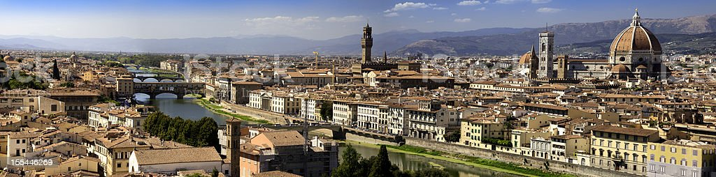 Florence, Italy.  Highly detailed panoramic image. stock photo