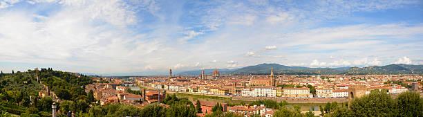 Florence Italy Panoramic View stock photo