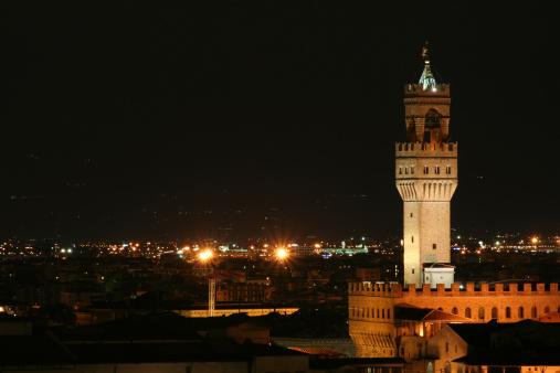 Florence Landscape Night Scene - Tuscany, Italy