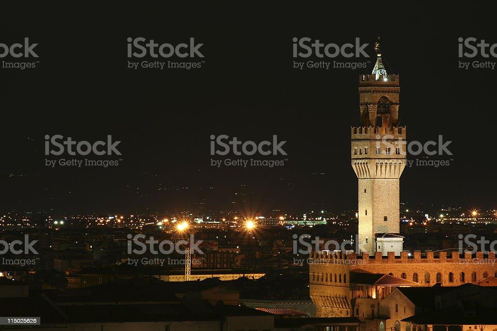 Escena nocturna del paisaje de Florencia, Toscana, Italia - foto de stock