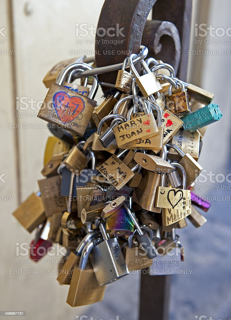 Florence locks of love royalty-free stock photo