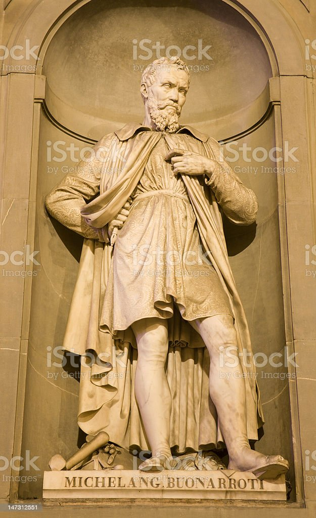 Florence - Michelangelo statue royalty-free stock photo