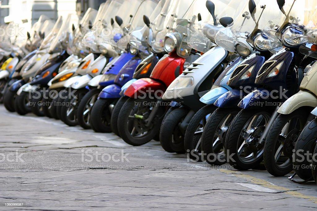 Florence Mopeds stock photo