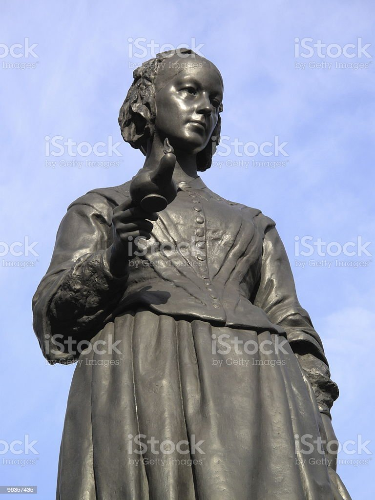 Florence Nightingale statue stock photo