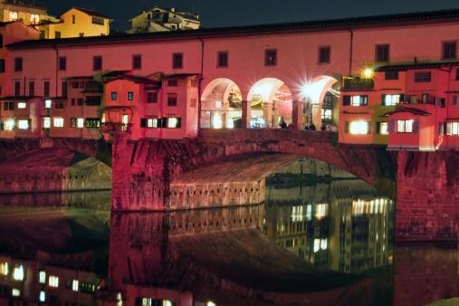 Florence. Ponte Vecchio at night