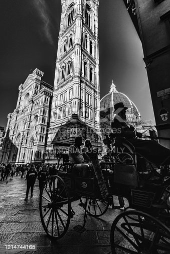 Florence, Septembar 26, 2018 Florence Italy: Florence Cathedral, formally the Cattedrale di Santa Maria del Fiore, the cathedral of Florence, Italy, UNESCO World Heritage Site.