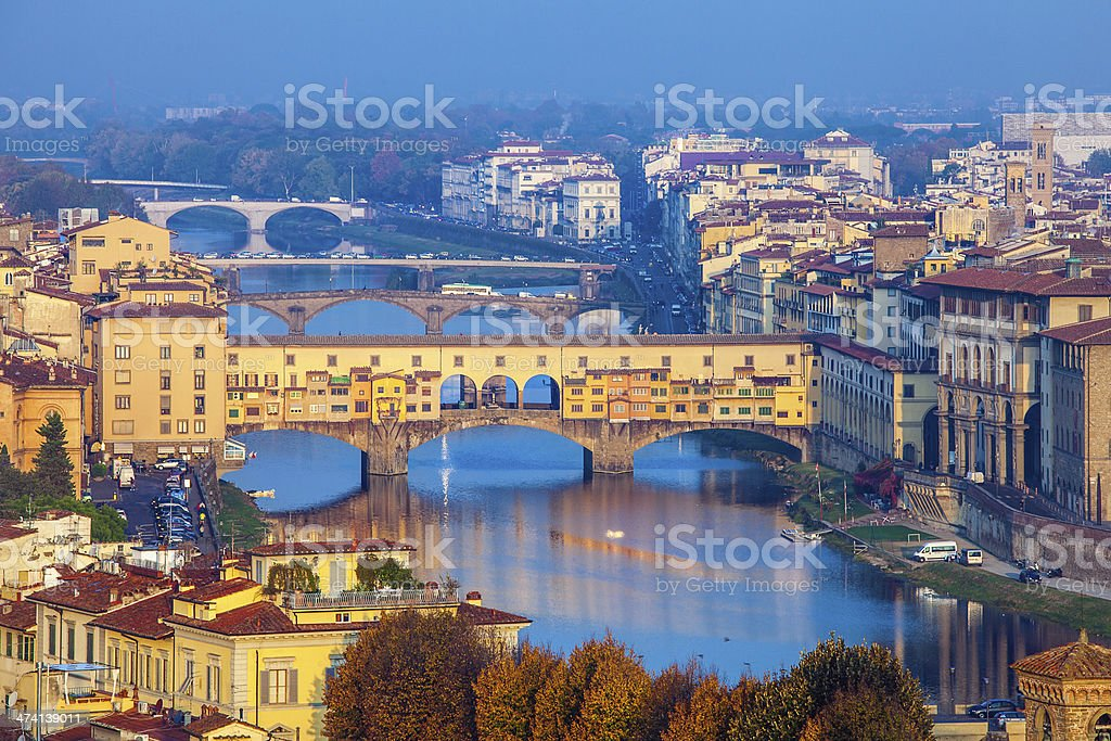 Florence skyline in the morning stock photo