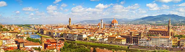 skyline von florenz, italien, toskana - giotto stock-fotos und bilder