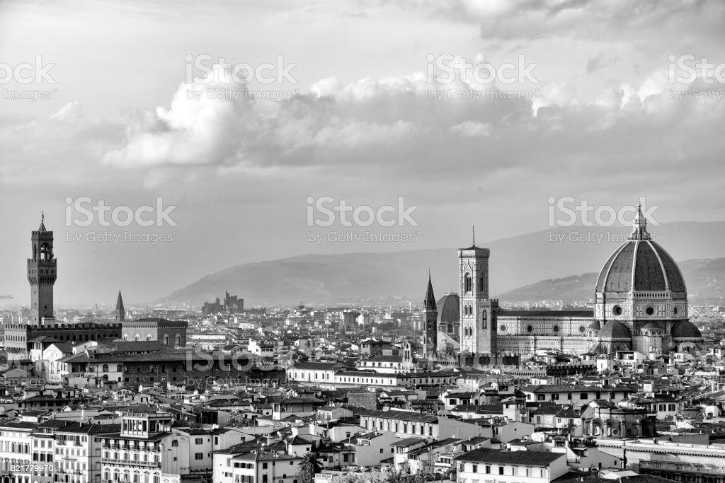 Florence skyline stock photo