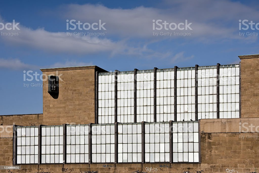 Florence SMN Train Station Facade, Glass and Stone stock photo