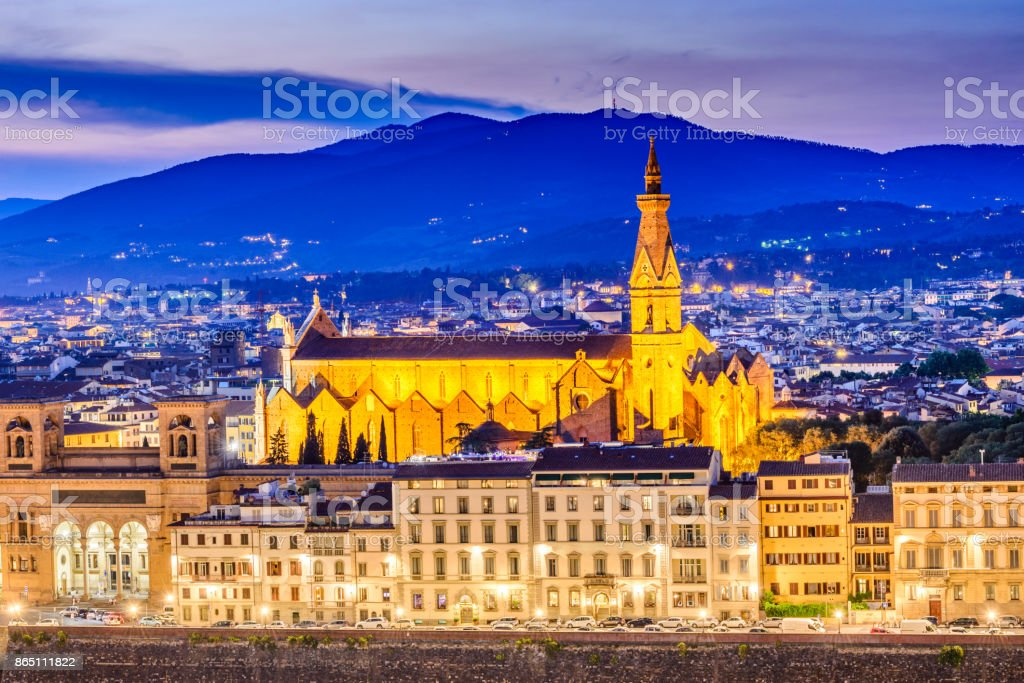 Florence, Tuscany, Italy - Santa Croce stock photo