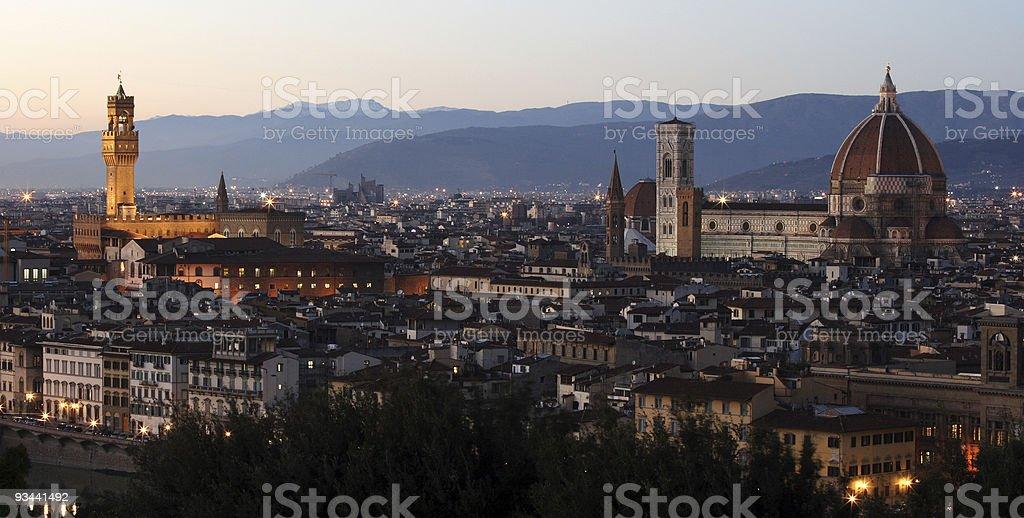Florence twilight royalty-free stock photo