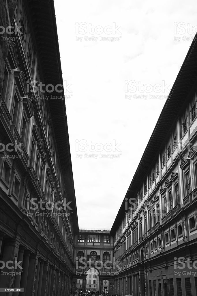 Florence: Uffizi royalty-free stock photo